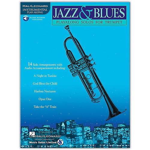 Hal Leonard Jazz & Blues Playalong Solos for Trumpet (Book/Online Audio)