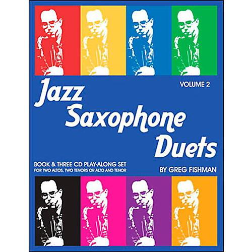 Jamey Aebersold Jazz Saxophone Duets Vol. 2 Book and CDs