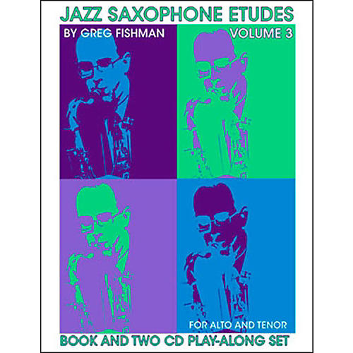 Jamey Aebersold Jazz Saxophone Etudes Vol. 3 Book and CDs-thumbnail