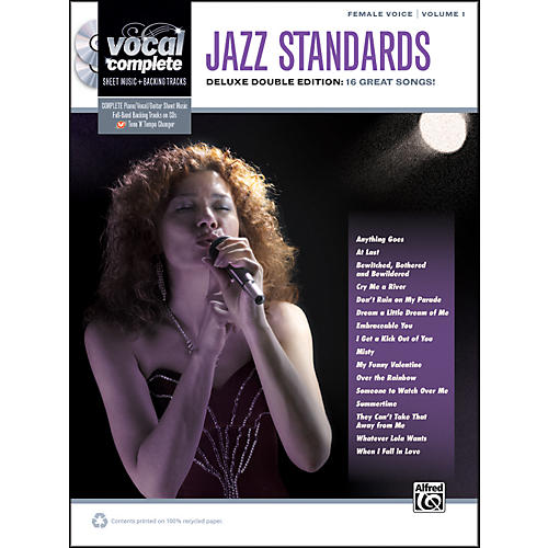 Alfred Jazz Standards Female Voice  - Book & 2 CDs-thumbnail
