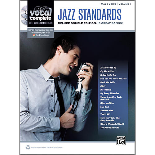 Alfred Jazz Standards Male Voice  - Book & CD-thumbnail