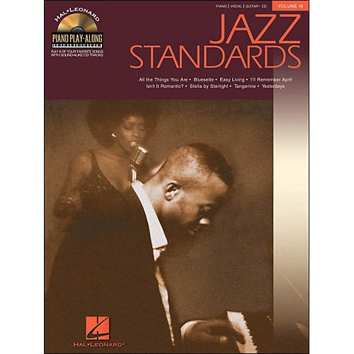 Hal Leonard Jazz Standards Piano Play-Along Volume 18 Book/CD arranged for piano, vocal, and guitar (P/V/G)-thumbnail