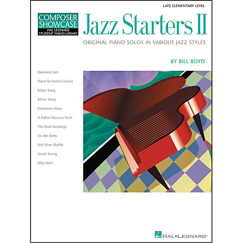 Hal Leonard Jazz Starters II Piano Solos Early Elementary Hal Leonard Student Piano Library by Bill Boyd-thumbnail