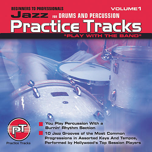 Practice Tracks Jazz for All Drums Percussion (CD)