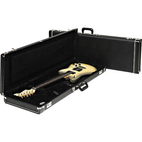 Fender Jazzmaster Hardshell Case Black Black Plush Interior