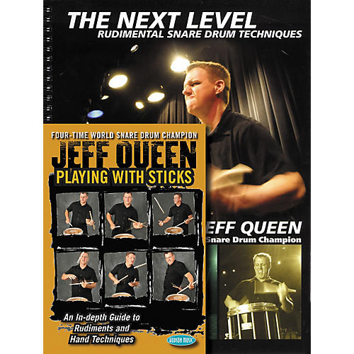 Hudson Music Jeff Queen - Playing With Sticks and The Next Level - Snare Drum Book and DVD Combo Pack-thumbnail