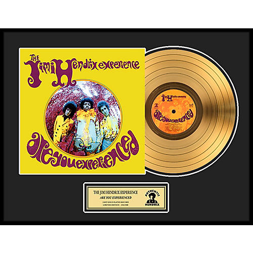 24 Kt. Gold Records Jimi Hendrix - Are You Experienced Gold LP Limited Edition of 2500-thumbnail
