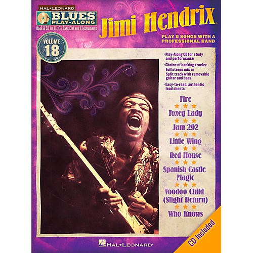 Hal Leonard Jimi Hendrix - Blues Play-Along Volume 18 Book/CD-thumbnail