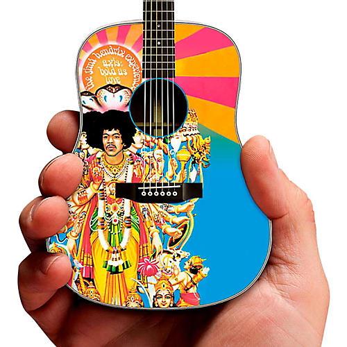 Axe Heaven Jimi Hendrix Axis Bold As Love Acoustic Miniature Guitar Replica Collectible-thumbnail