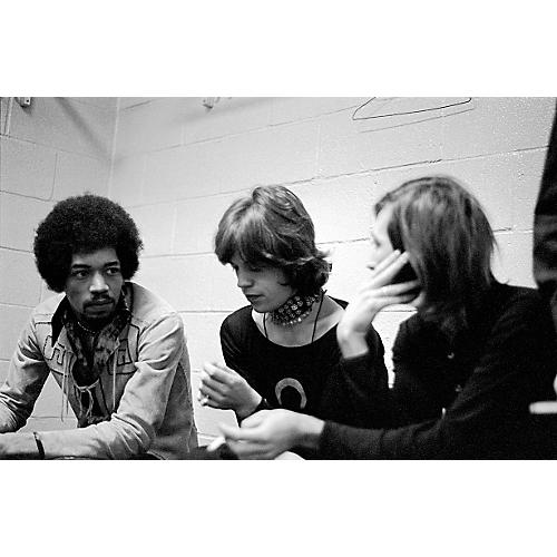 ZZZ Jimi Hendrix Hanging with The Rolling Stones, Madison Square Garden, NYC 1969