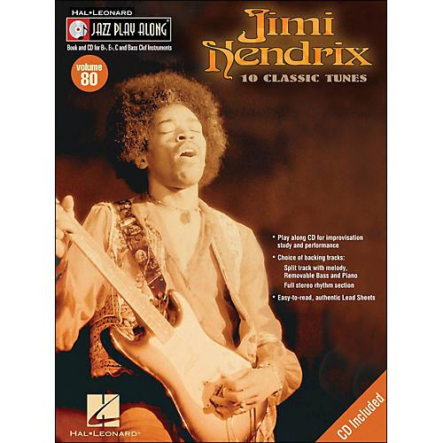 Hal Leonard Jimi Hendrix Jazz Play-Along Volume 80 Book/CD-thumbnail