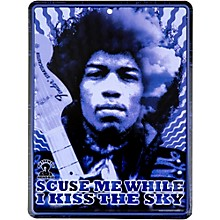 Fender Jimi Hendrix Kiss the Sky Tin Sign
