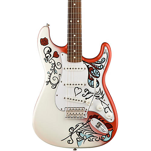 fender jimi hendrix monterey stratocaster electric guitar custom graphic guitar center. Black Bedroom Furniture Sets. Home Design Ideas