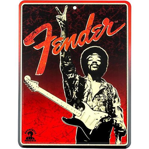 Fender Jimi Hendrix Peace Sign Tin Sign