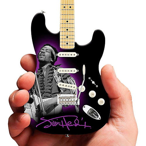 Axe Heaven Jimi Hendrix Photo Tribute Fender Stratocaster Miniature Guitar Replica Collectible
