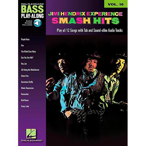 Hal Leonard Jimi Hendrix Smash Hits: Bass Play-Along Series, Volume 10 (Book/CD)-thumbnail