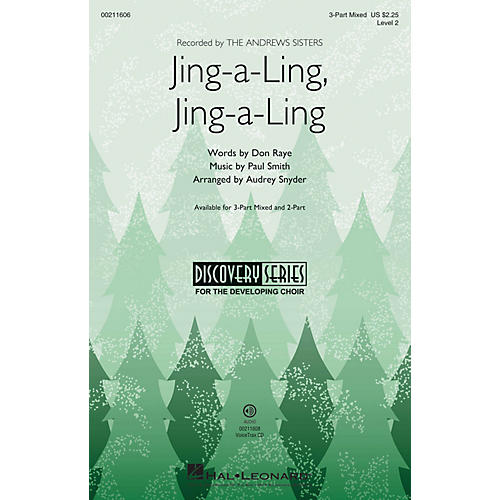 Hal Leonard Jing-a-Ling, Jing-a-Ling (Discovery Level 2) 3-Part Mixed arranged by Audrey Snyder