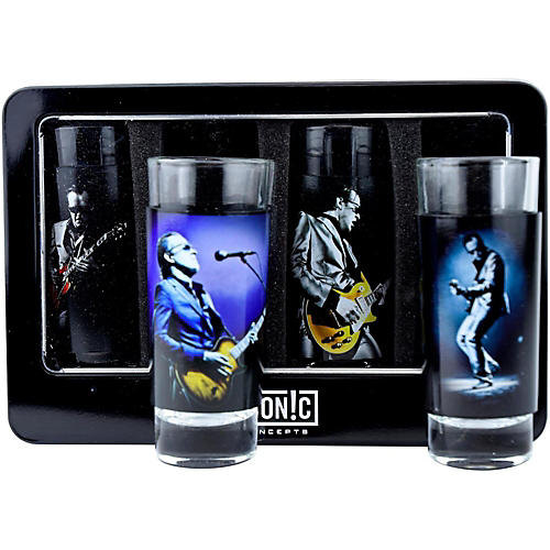 Iconic Concepts Joe Bonamassa 4-Piece Shot Glass Set - Lithos Collection 1 & 2