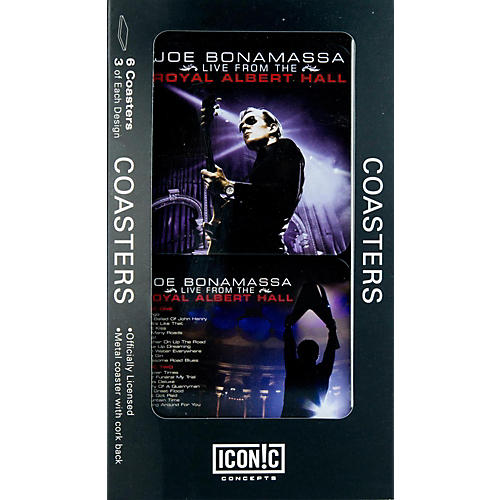 Iconic Concepts Joe Bonamassa 6 piece Coaster Set - Royal Albert Hall in Tin Box-thumbnail