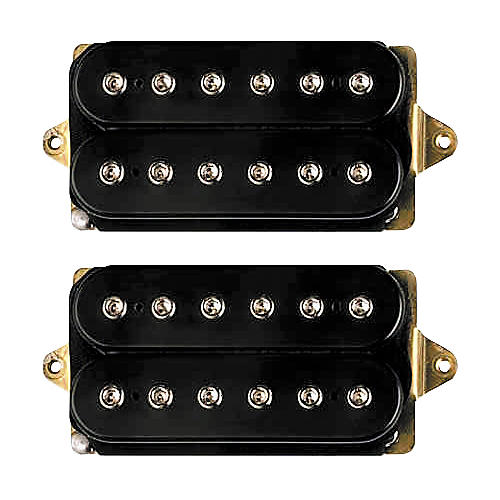 DiMarzio Joe Satriani Humbucker Set F-SP NK F-SP BRDG Black For 43mm Nut (1-11/16)