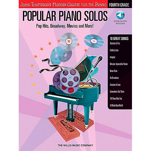 Willis Music John Thompson's Modern Course for Piano - Popular Piano Solos Fourth Grade Book/CD