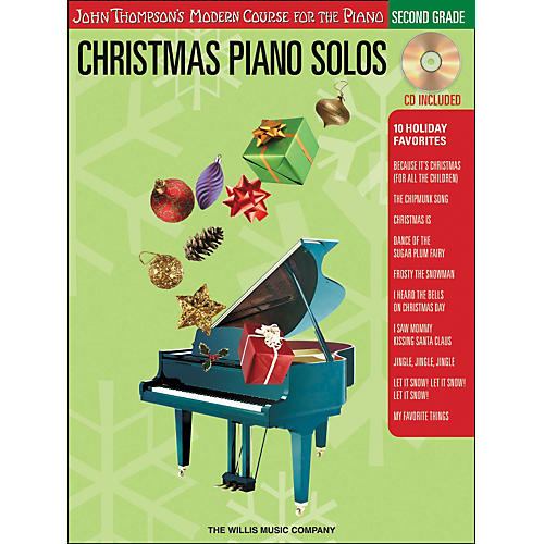 Willis Music John Thompson's Modern Course for the Piano - Christmas Piano Solos Second Grade Book/CD-thumbnail