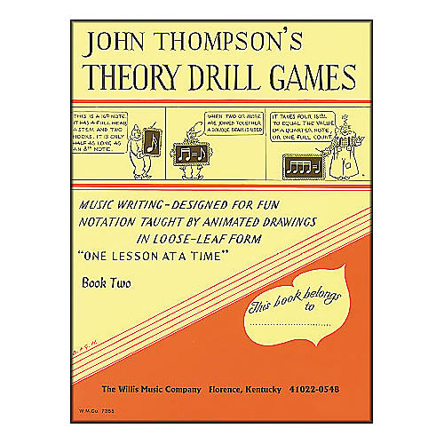Willis Music John Thompson's Theory Drill Games Book 2