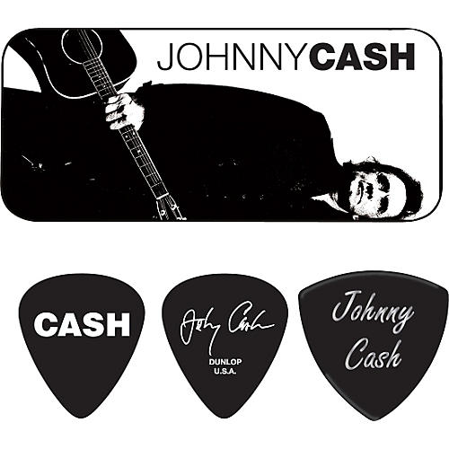 Dunlop Johnny Cash Legend Pick Tin with 6 Picks Medium