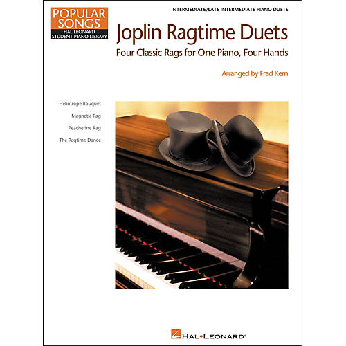 Hal Leonard Joplin Ragtime Duets - Popular Songs Level 5 Intermediate/Late Intermediate Hal Leonard Student Piano Library by Fred Kern-thumbnail