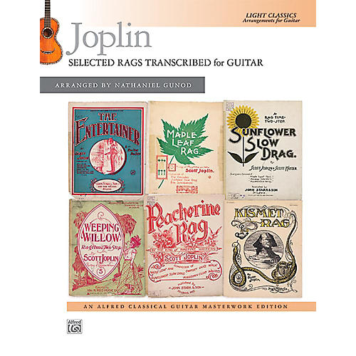 Alfred Joplin: Selected Rags Transcribed for Guitar - Book Intermediate-thumbnail