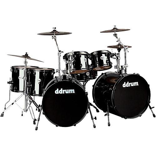 ddrum journeyman2 double bass 7 piece drum set midnight black guitar center. Black Bedroom Furniture Sets. Home Design Ideas