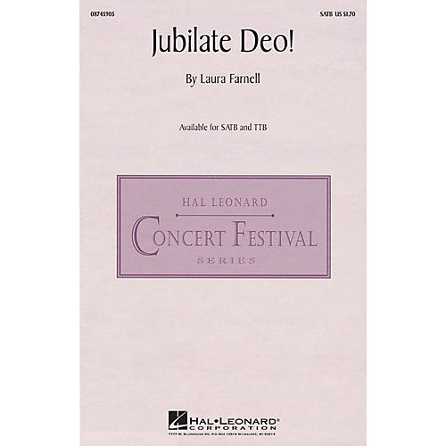 Hal Leonard Jubilate Deo! SATB composed by Laura Farnell