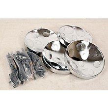 Panyard Jumbie Jam Educator's Steel Drum 4-Pack with Table Top Stands Level 2 Chrome 888365932125