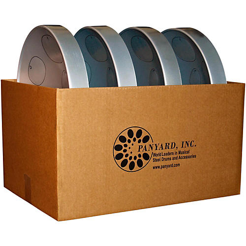 Panyard Jumbie Jam Educator's Steel Drum 4-Pack with Table Top Stands