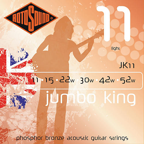 Rotosound Jumbo King Light Phosphor Bronze Acoustic Guitar Strings-thumbnail