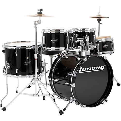 ludwig junior outfit drum set black guitar center. Black Bedroom Furniture Sets. Home Design Ideas