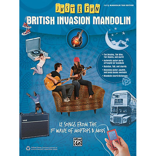 Alfred Just for Fun British Invasion Mandolin Book-thumbnail