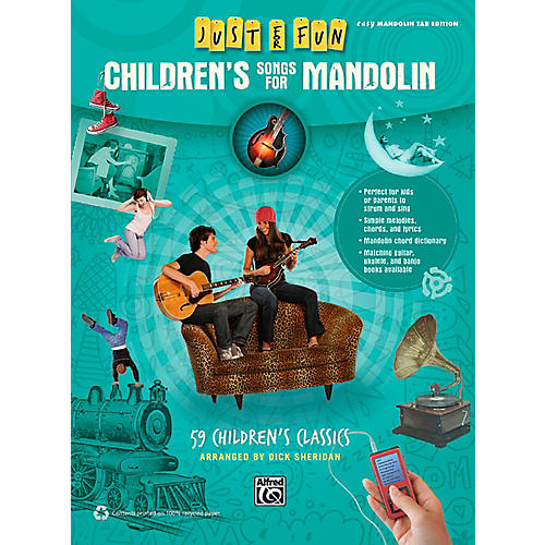 Alfred Just for Fun Children's Songs for Mandolin Easy Mandolin TAB Book-thumbnail