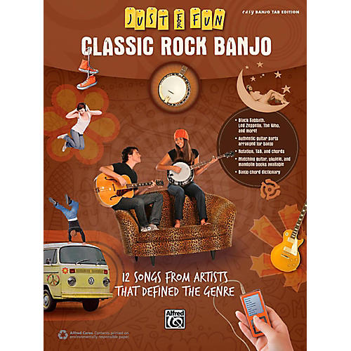 Alfred Just for Fun Classic Rock Banjo Book-thumbnail