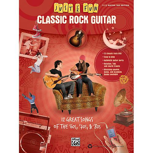 Alfred Just for Fun: Classic Rock Guitar (Book)-thumbnail
