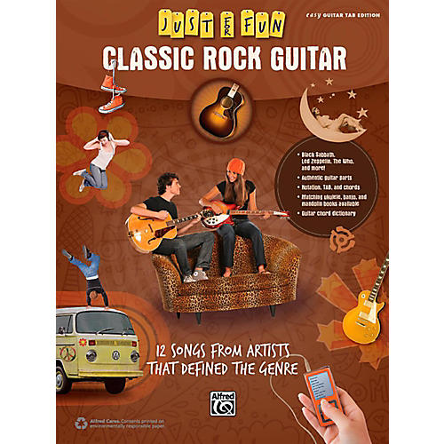 Alfred Just for Fun Classic Rock Guitar Book-thumbnail