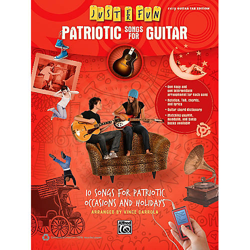 Alfred Just for Fun Patriotic Songs for Guitar Easy TAB Book-thumbnail