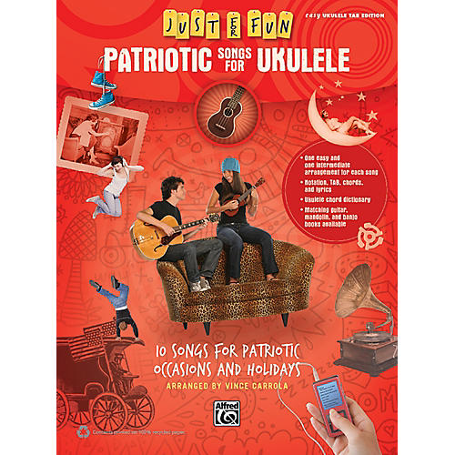 Alfred Just for Fun Patriotic Songs for Ukulele Easy TAB Book-thumbnail