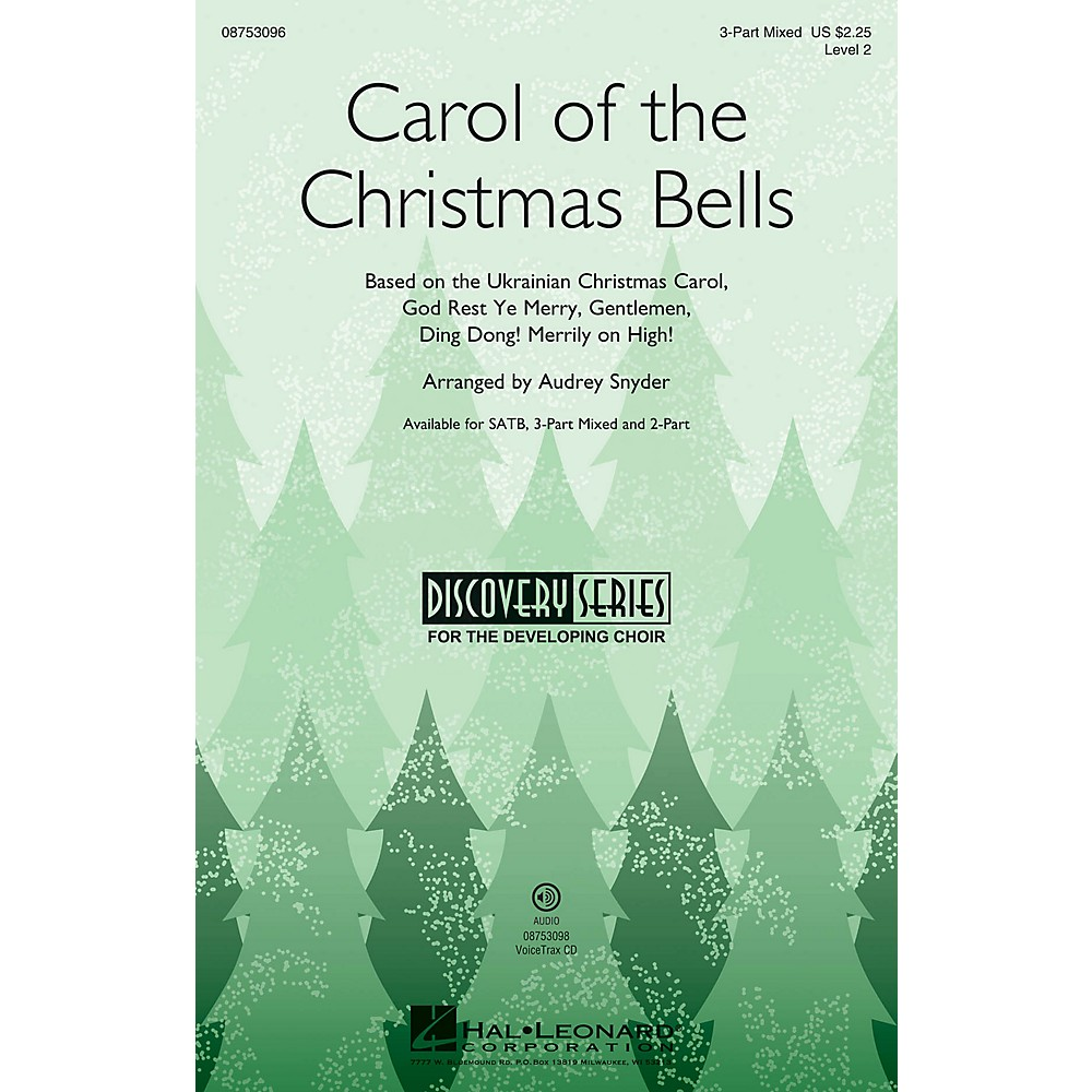 Hal Leonard Carol of the Christmas Bells SATB Arranged by Audrey Snyder 1500000101401