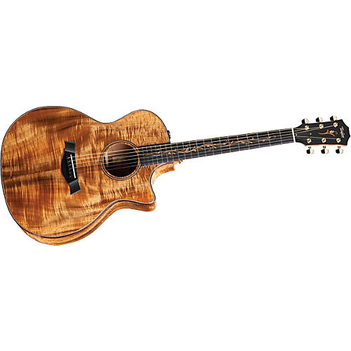 Taylor K24ce-L Koa Grand Auditorium Left-Handed Acoustic-Electric Guitar Natural