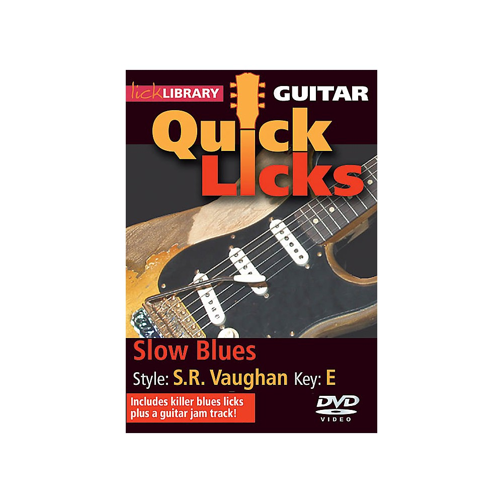 Licklibrary Slow Blues Quick Licks (Style: Stevie Ray Vaughan; Key: E) Lick Library Series Dvd By Jamie Humphries 1500000133509