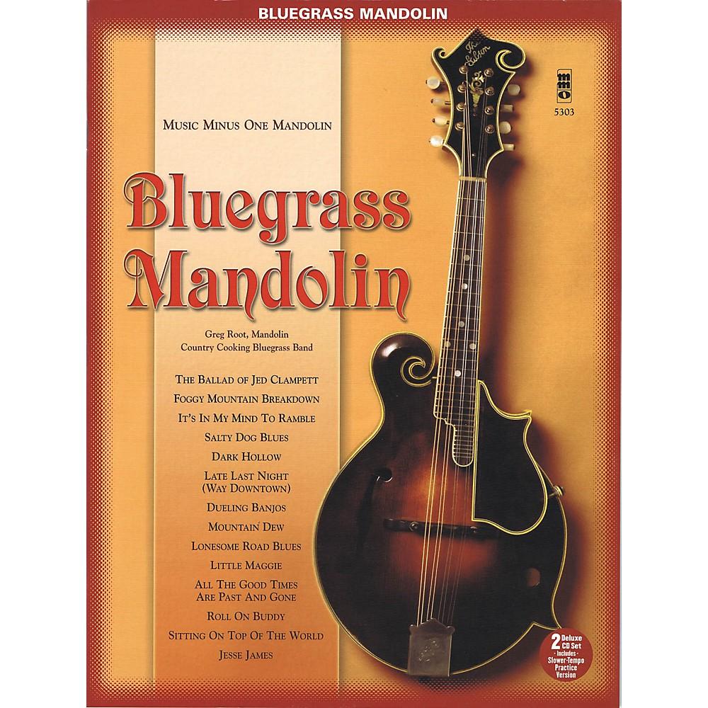 Music Minus One Bluegrass Mandolin (Deluxe 2-Cd Set) Music Minus One Series Softcover With Cd Performed By Greg Root 1500000136420
