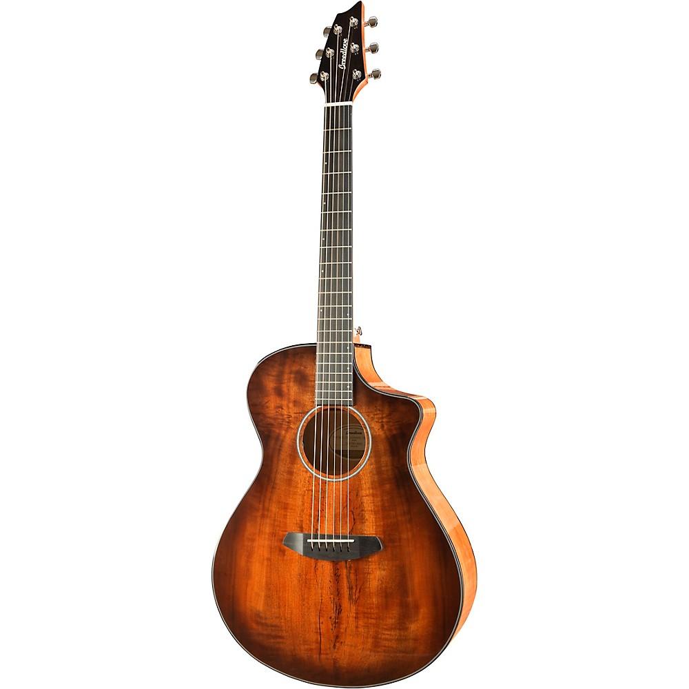 Breedlove Pursuit Exotic Concert Bourbon CE Myrtlewood - Myrtlewood Acoustic-Electric Guitar Bourbon Sunset Burst 1500000124748
