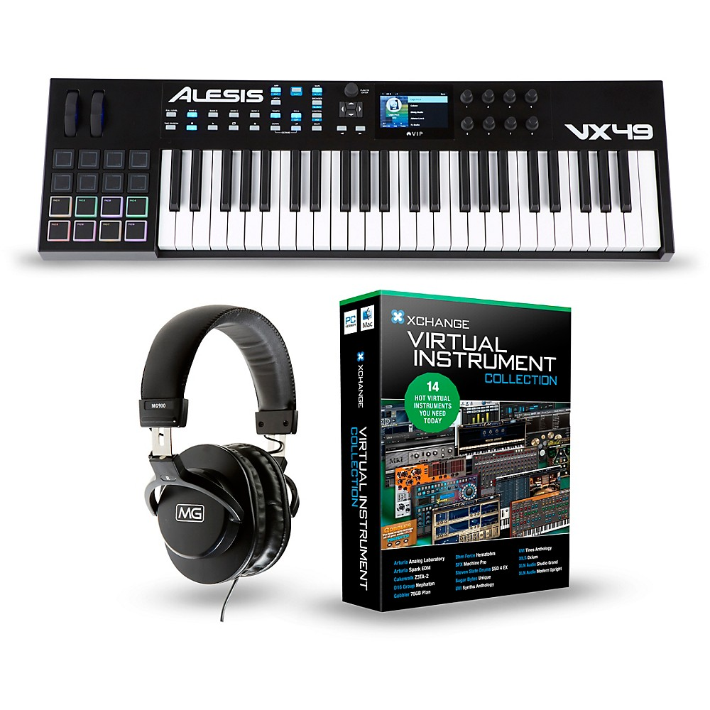 Alesis Vx49 49-Key Keyboard Controller Package  Production Package 1500000142165