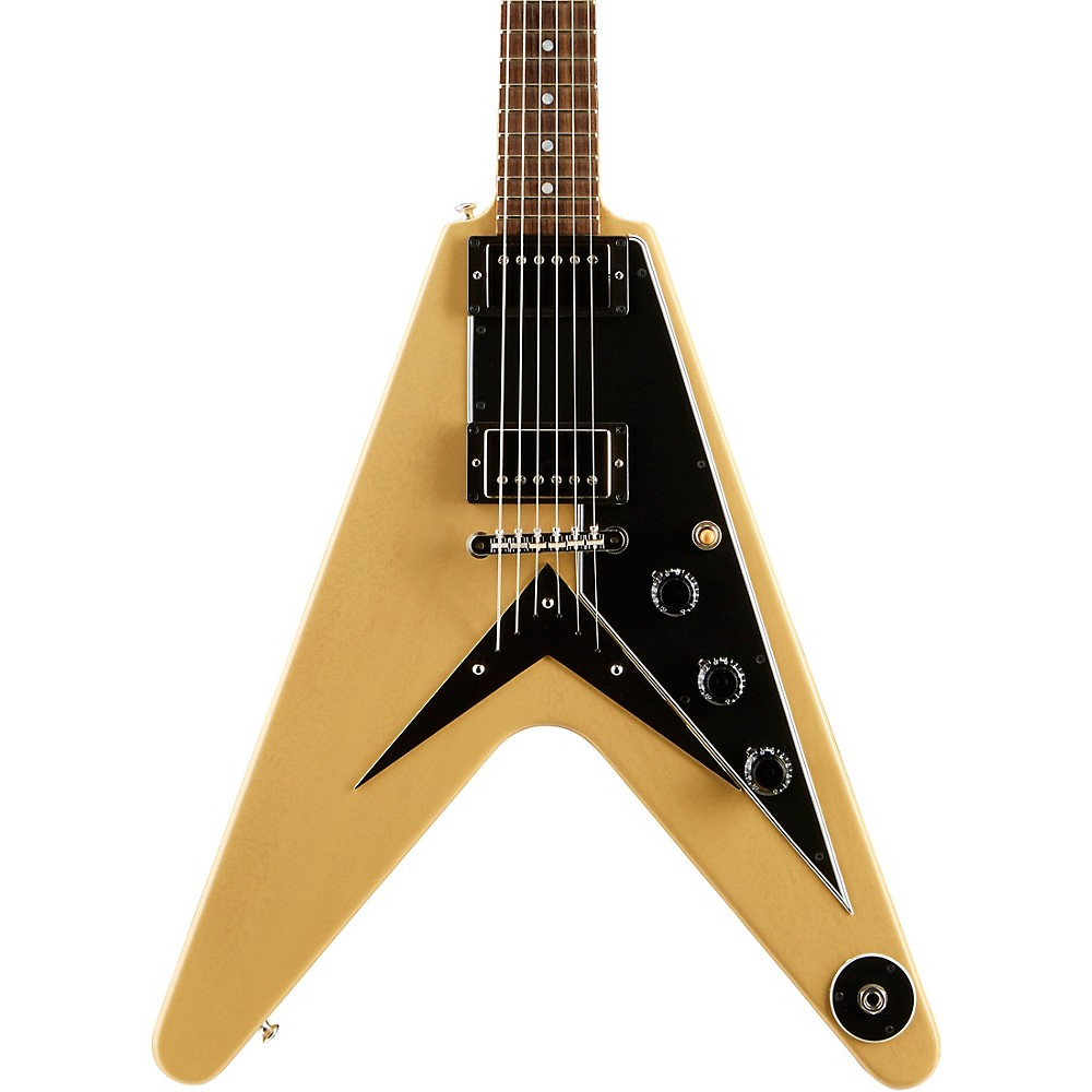 Gibson Custom 2018 Flying V Mahogany TV Electric Guitar TV Yellow Black Pickguard 1500000145816